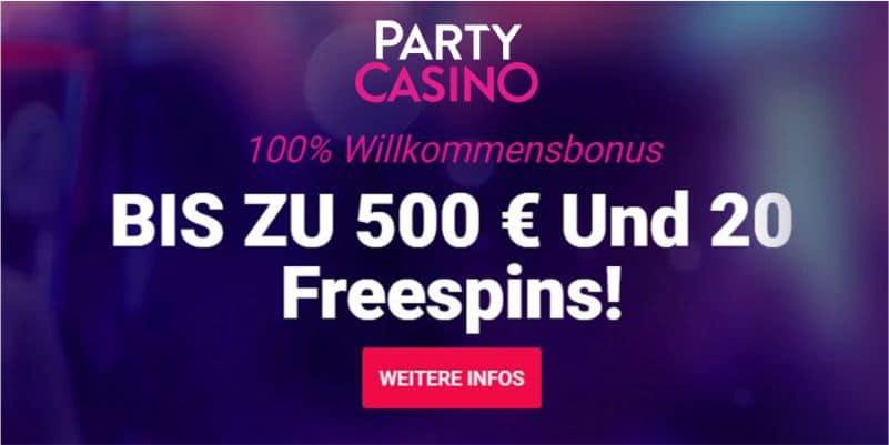 PartyCasino Bonus Vorschau