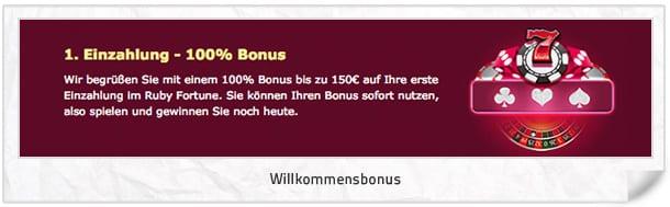 Ruby Fortune Bonus Vorschau