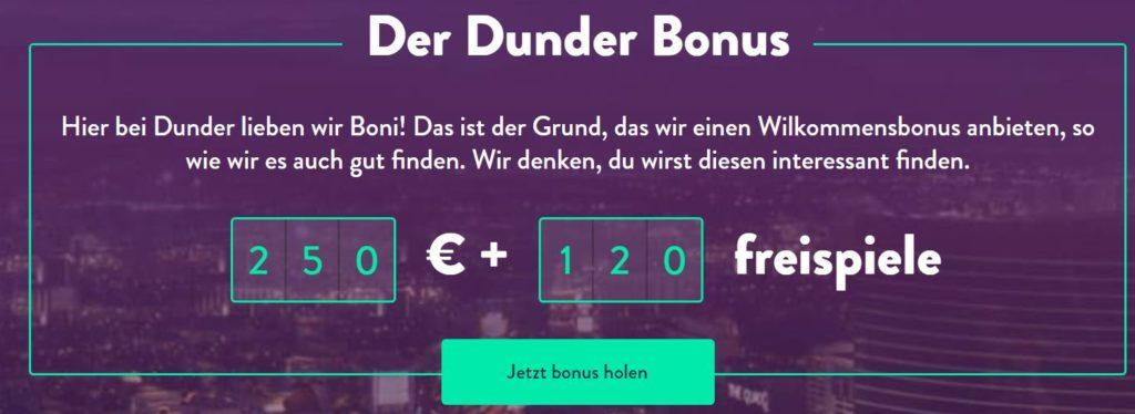 Dunder Bonus Vorschau