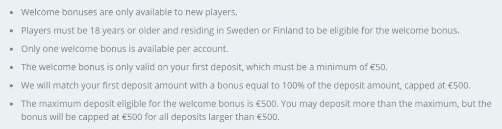 Speedy Casino Bonus
